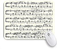 ECOMAOMI 可愛いマウスパッド 音楽古紙 滑り止めゴムバッキングマウスパッドノートブックコンピュータマウスマット