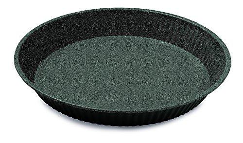 Guardini Blackstone, Moule à tarte 28 cm, acier avec revêtement anti-adhérent, couleur « black-stone »