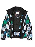 Quiksilver Mission Printed Youth - Chaqueta de nieve para niño, color Multicolor (Chakalapaki Bluefish/Andean), talla L