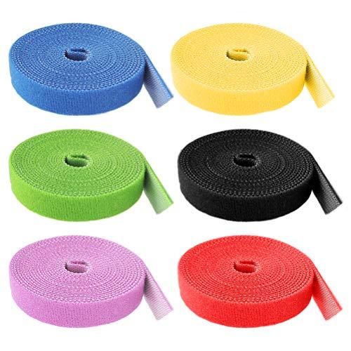 JAOMON Juego de Bridas Para Cables, Tira Adhesiva Reutilizab