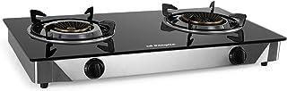 Orbegozo 17539 FO 2720 Réchaud à gaz, corps en acier inoxydable et surface en verre trempé Noir 7 mm