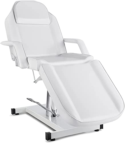 popular Artist hand Hydraulic Facial Table Tattoo Chair Massage Bed Adjustable Professional for Esthetician Beauty Spa Lash Bed for Eyelash Extensions Salon popular sale Equipment Barber Chair Salon Chair (White) sale