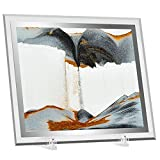 TKTM Moving Sand Art Picture Decor Gold Glitter Motion Relaxing Large Glass Frame Sandscapes Great Gift for Someone Who Has Everything (10 in Gold)