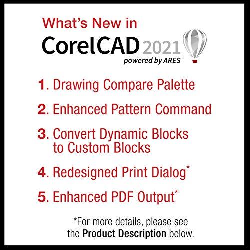 CorelCAD 2021 Upgrade   CAD Software   2D Drafting, 3D Design & 3D Printing [PC Download]