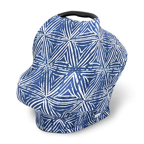 Simka Rose Car Seat Canopy Nursing Cover - Multi Use Cover - Baby Breastfeeding Cover - Ultra Soft and Stretchy - Modern Prints (Shibori)