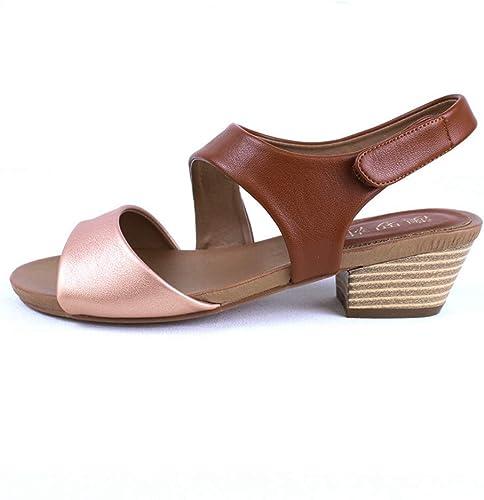 JQfashion Sandales pour Femmes Chaussures Rétro-Romaines Baton Magique avec avec Bouche De Poisson et Talon Rugueux pour Chaussures De Loisirs D'été  plus d'ordre