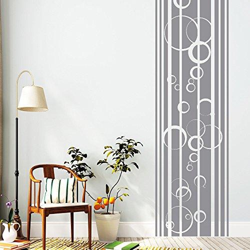 """Wandtattoo-Loft """"Streifen Bordüre mit Blubber Blasen"""" - Wandtattoo / 54 Farben / 4 Größen/transparent / 120 cm lang x 34 cm breit"""