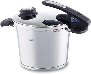 Fissler vitavit edition design / Olla a presión (6 litros, Ø 22 cm) de acero inoxidable, 2 niveles de cocción, apta para cocinas de inducción, gas, vitrocerámica y eléctricas