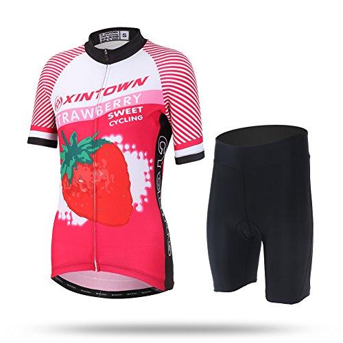 Amur Leopard Conjunto de Maillot Camiseta de Manga Corta ciclismo y Pantalón...