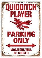 Quidditch Parking Only 注意看板メタル安全標識注意マー表示パネル金属板のブリキ看板情報サイントイレ公共場所駐車