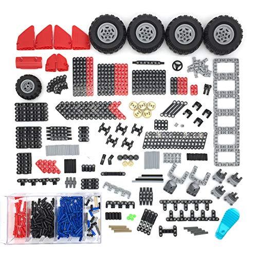 SICI Juego de piezas de repuesto técnicas, 480 piezas, piezas de construcción, bloques de sujeción, compatible con la técnica Lego
