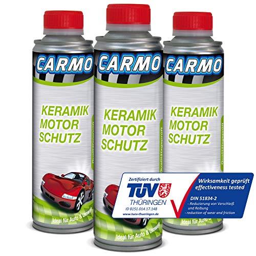 CARMO 3X Keramik Motor Schutz | Keramik Additiv | Ceramic Additiv | Verschleißschutz | Motoröl Ölzusatz | Motor Protect | 250 ml Dose