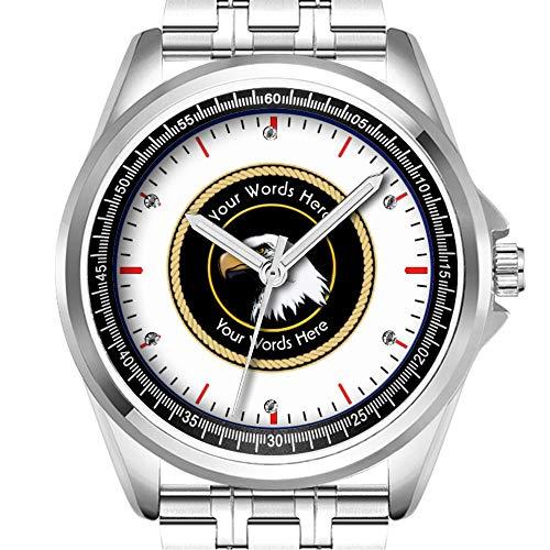 Personalisierte Herren-Armbanduhr, modisch, wasserdicht, Diamant-Optik, 103.