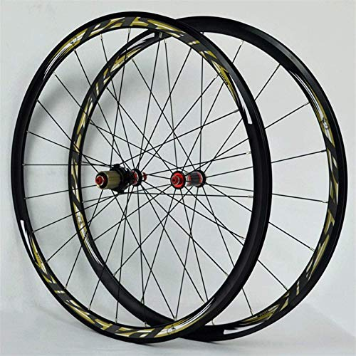 TYXTYX Ejes de liberación rápida Accesorio de Bicicleta 700C Juego de Ruedas de Bicicleta de Carreras de Carretera Llanta de Bicicleta superligera Freno C/V Cassette de 7-11 velocidades Bujes de