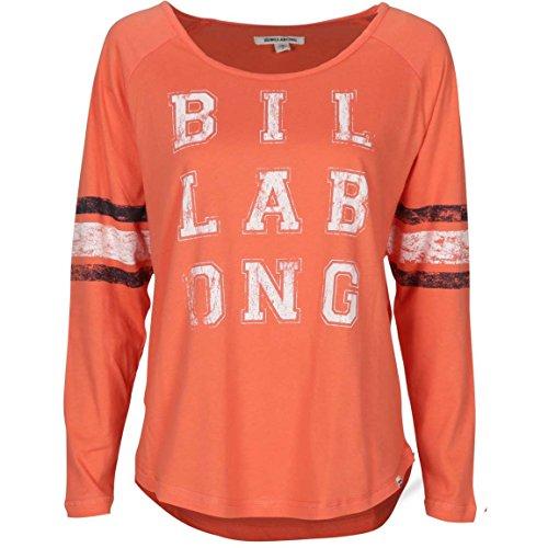BILLABONG Varsity t-Shirt à Manches Longues pour Femme S Rouge - Ambre