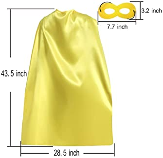 Superhero Capes and Masks for Adults Bulk Pack for Men & Women - Dress Up Superhero Party Costumes for Team Building