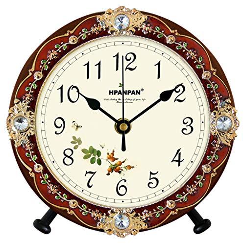 $Digitale Alarm Klok Tafel Klok Europese Mute Klok Woonkamer Decoratie Wandklok Landelijk Hout Creatieve Slaapkamer Klok Home Alarm Klok