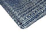 Majisacraft Sanganeri Siebdruck, reine Baumwolle, blauer