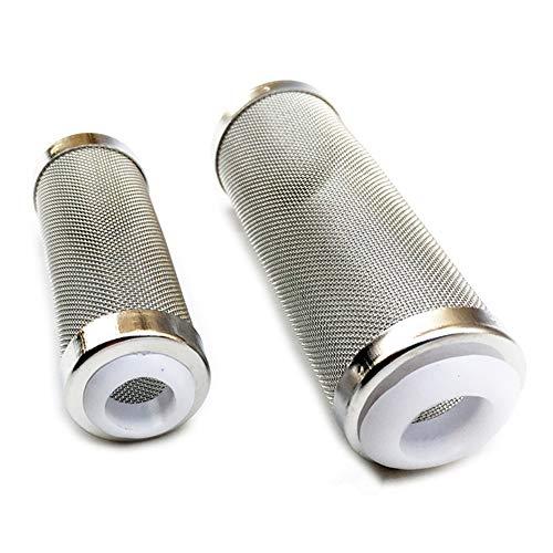 YuBu-Tech Absaugfilter für Aquarien, 12 mm und 16 mm, Edelstahlgeflecht