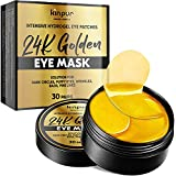 Hydrogel Under-Eye Patches for Puffy Eyes, Dark Circles, Eye Bags, Fine Lines, & Wrinkles - 24K Golden Under-Eye Mask with Moisturizing and Anti-Aging Effect - Eye Pads, 30 Pairs