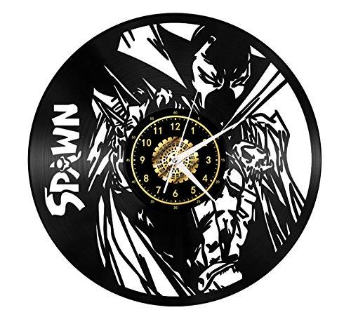 Concurrent Athletes Series Spawn Disque Vinyle Creative Rétro Led Éclairage Vinyle Horloge Murale Salon Décoration Décoration x Avec Led Lumières 12 Pouces