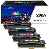 GPC Image Compatible Toner Cartridge Replacement for HP 206A 206X W2110A W2111A W2112A W2113A to use with HP Color Laserjet Pro M255dw MFP M283cdw M283fdw M282nw M283 M255 Printer Toner (4 Pack)