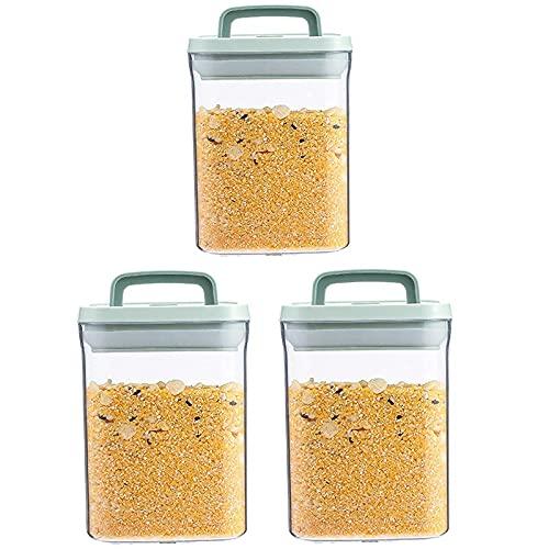Pkfinrd 3 unids Arroz Almacenamiento Contenedor Alimento Contenedores Caja de Plástico Cocina Cereales Almacenamiento Contenedores Alimentos Plástico Alimentos Arroz Grano Frijoles Bendillos