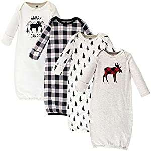 Set includes coordinating gowns Made with 100% cotton Soft, gentle and comfortable on baby's skin Optimal for everyday use Affordable, high quality value pack