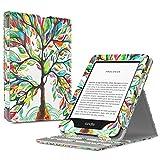 TiMOVO Funda Compatible con Nuevo Kindle (10ª generación - Modelo 2019), Prima Voltear Verticalmente Tapa de Cubierta con Auto Sueño/Estela Case (No para Kindle Paperwhite) - Árbol de Suerte