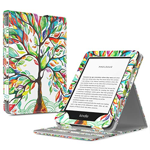 TiMOVO Case Compatible for All-New Kindle (10th Generation, 2019 Release), Shockproof Vertical Flip Stand Cover with Auto Wake/Sleep Fits Amazon Kindle, Not Fit Kindle Paperwhite - Lucky Tree