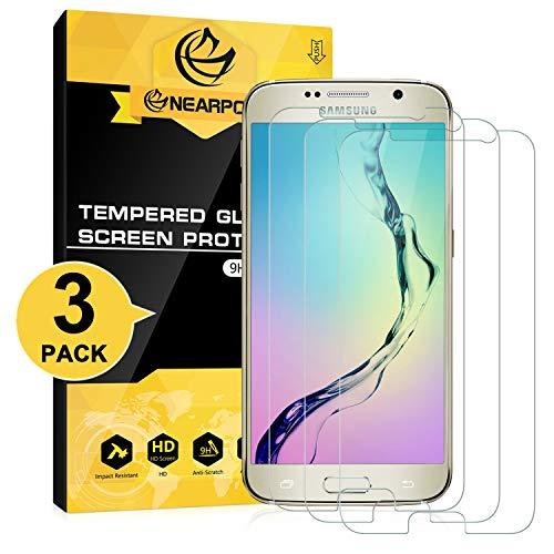 NearPow [3 Pack Protector de Pantalla para Samsung Galaxy S6 Cristal Templado...