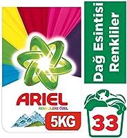 Ariel Toz Çamaşır Deterjanı Dağ Esintisi, Renkliler için, 5 kg, 33 Yıkama