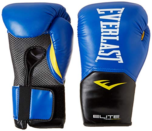 Everlast Elite Pro Style Training Gloves Blue 16 oz