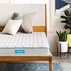"Your purchase includes one Linenspa 6-inch innerspring mattress, in twin size Item's dimensions: 39"" W x 75""L x 6""H. Feel: Firm Fits box springs, slatted/platform bed frame and metal grids Remove packaging within 72 hours, and allow an extra 48-72 ho..."