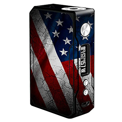 Skin Decal Vinyl Wrap for Voopoo Drag 157W TC Resin/Reg. Vape Mod stickers skins cover/American Flag distressed