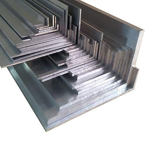 Aluwinkel 80 x 40 x 4 mm Winkelprofil ungleichschenklig Alu Winkel Aluprofil Aluminiumprofil L Profil aus Aluminium (150 cm)