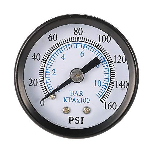 MASUNN Ts-40-10 1/8 Inch 160 Psi 0-10Bar Compressor Persluchtdrukmeter Kleine Dubbele Schaalmeter
