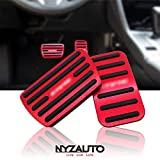 NYZAUTO Anti-Slip Performance Foot Pedal Pads for Honda 10th Civic,Auto No Drilling Aluminum Brake and Accelerator Pedal Covers Red