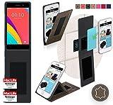 Hülle für Oppo R5s Tasche Cover Hülle Bumper | Braun Wildleder | Testsieger