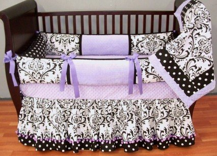 Fantastic Prices! Modpeapod Delaney Lavender Breathable Baby Bedding Set