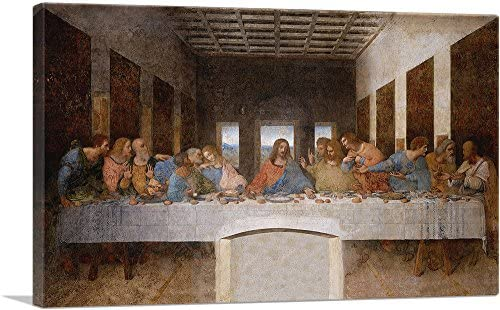 ARTCANVAS The Last Supper 1498 Canvas Art Print by Leonardo da Vinci 40 x 26 0 75 Deep product image