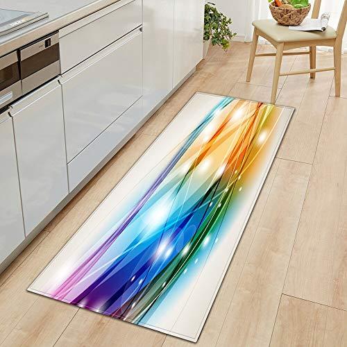HLXX Cocina Moderna casa Alfombra de Puerta Larga Sala de Estar decoración Dormitorio balcón Pasillo Alfombra de baño Antideslizante A25 40x60cm
