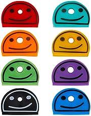 Uniclife Glimlach gezicht/bal zeer belangrijke GLB-dekking in diverse kleuren voor huissleutellabellabels