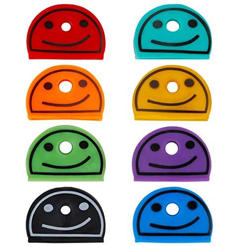 Uniclife 24 PCS Smiley Key Cap Covers in 8 Verschiedenen Farben für Hausschlüsseletiketten