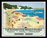 Blechschild mit französischem Fluss Cannes San Tropez
