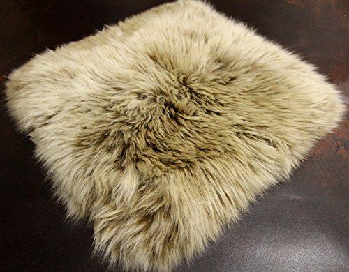 particulièrement Belle Coussin en fourrure d'agneau véritable avec les dimensions de base de 40 x 40 cm – Confortable Coussin d'assise avec einmaligem wollbild comme coussin coussin, coussin déco de canapé et fauteuil chaise.