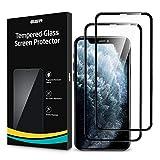 ESR 2 Unidades, Protector de Pantalla Compatible con iPhone 11 Pro y iPhone X y iPhone XS, Cristal Templado 3D Cobertura Total, Antiarañazos, Antihuellas, Sin Burbujas