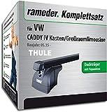 Rameder Komplettsatz, Dachträger SquareBar für VW Caddy IV Kasten/Großraumlimousine (116540-14303-1)