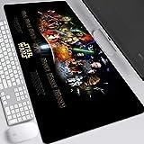 Alfombrilla Raton Xxl Alfombrilla Gaming Star Wars juego del ratón Mat XXL escritorio tamaño 900x400x3mm Tastaturmatte Gran alfombrilla de ratón for el ordenador portátil, PC de escritorio, P. Teclado
