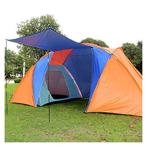 Youpin - Tenda da campeggio impermeabile a doppio strato, per 4-6 persone, per escursionismo, pesca, caccia, famiglia, feste, 3 colori (colore: arancione)